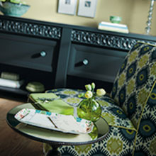Casual design style with a credenza cabinet by Decora Cabinetry