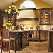 Davenport Cherry kitchen cabinets with homemade charm