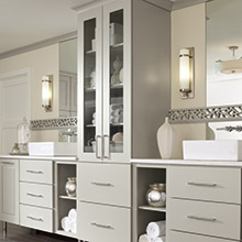 Toulan bathroom cabinets in a purposeful design