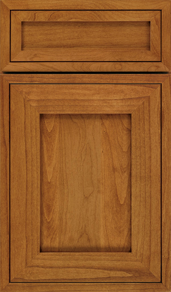 Airedale 5-Piece Alder Shaker Style Cabinet Door in Wheatfield with Bronze glaze
