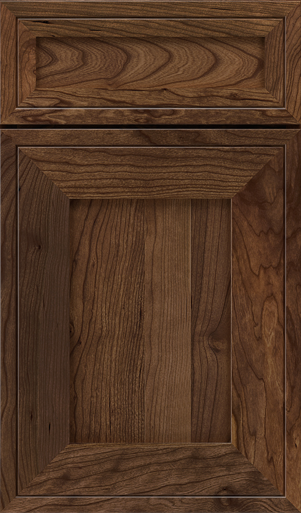 Airedale 5-Piece Cherry Shaker Style Cabinet Door in Mink