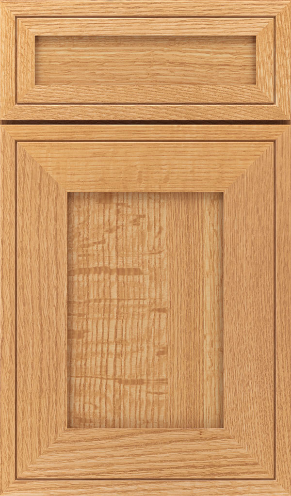Airedale 5-Piece Quartersawn Oak Shaker Style Cabinet Door in Natural