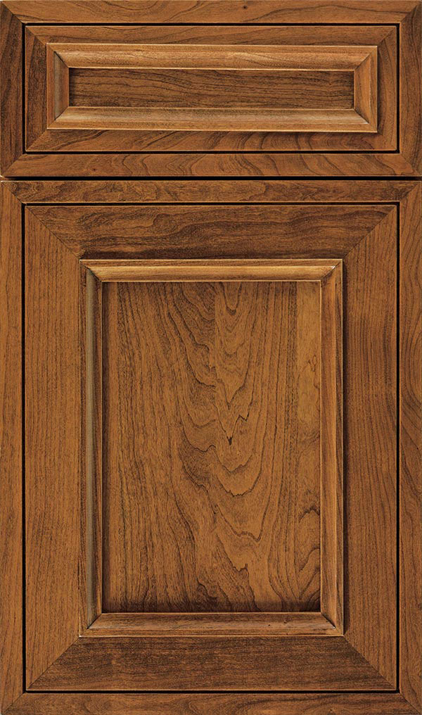 Altmann 5-piece Cherry recessed panel cabinet door in Suede