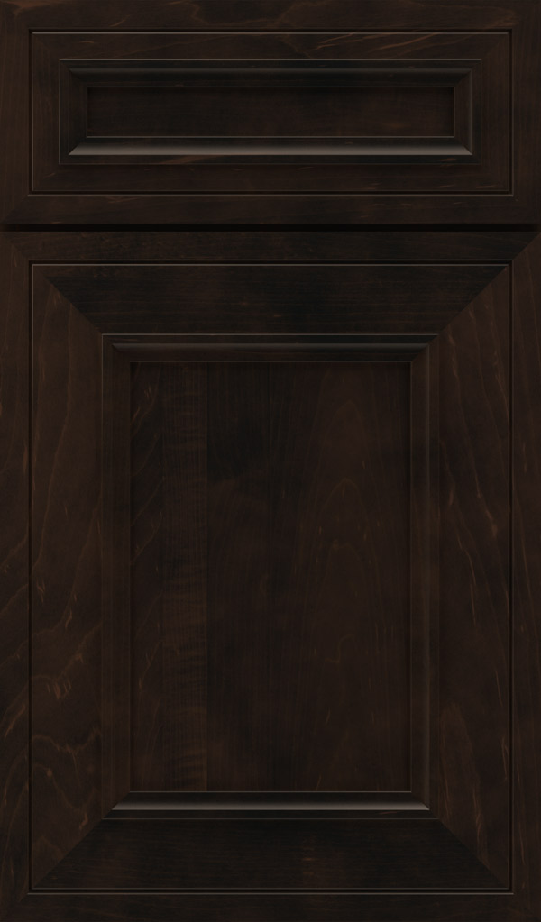 Altmann 5-piece Maple recessed panel cabinet door in Teaberry