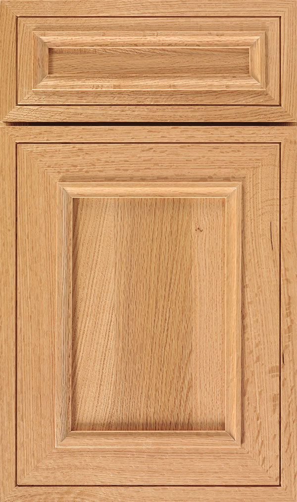 Altmann 5-piece Quartersawn Oak recessed panel cabinet door in Natural