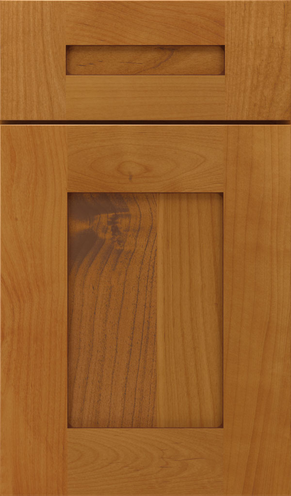 Artisan 5-piece Alder shaker cabinet door in Natural Bronze