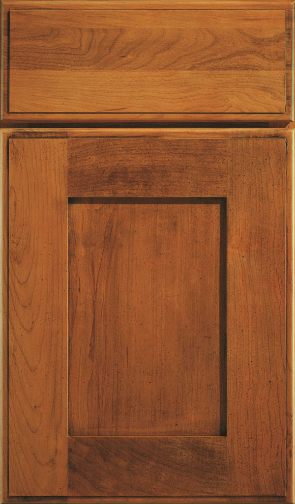 Artisan Cherry Shaker Cabinet Door in Bourbon Noir