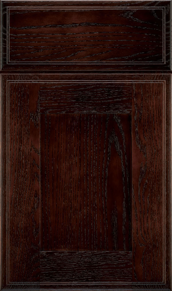 Artisan Oak Shaker Cabinet Door in Teaberry