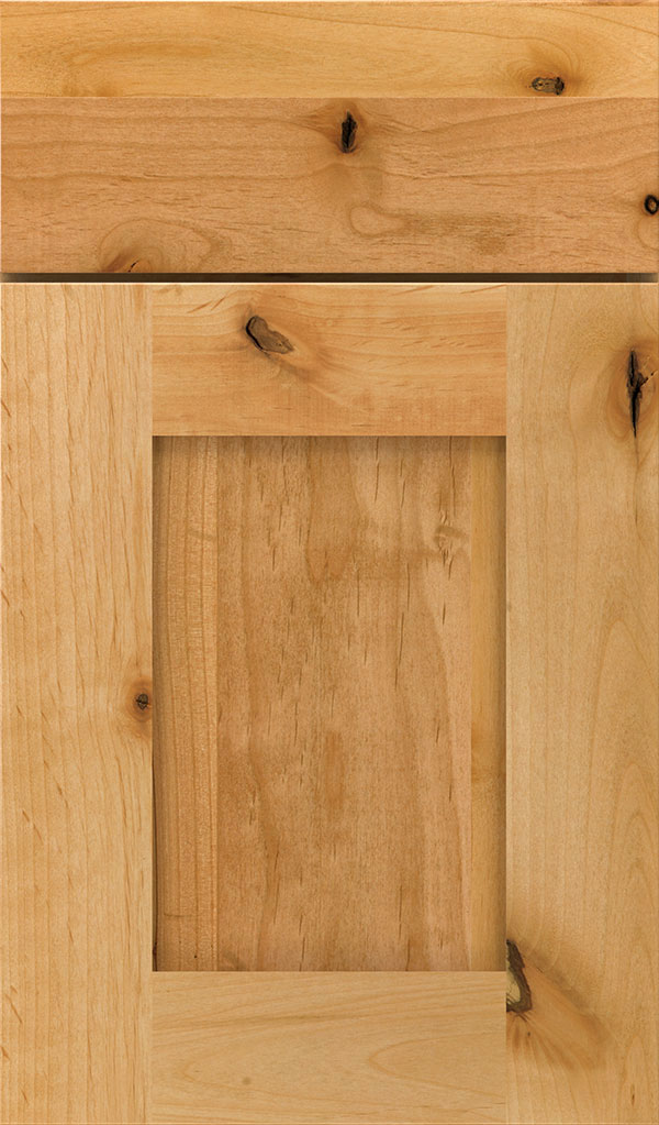 Artisan Rustic Alder Shaker Cabinet Door in Natural