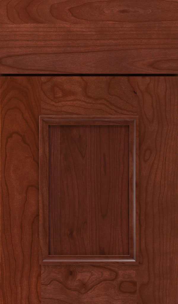 Atwater Cherry flat panel cabinet door in Arlington