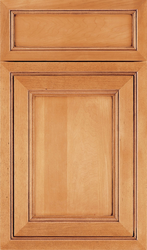 Braydon Manor 5-Piece Maple Flat Panel Cabinet Door in Natural Bronze
