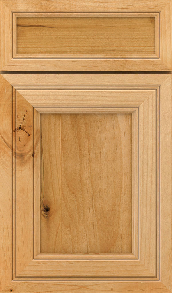 Braydon Manor 5-Piece Rustic Alder Flat Panel Cabinet Door in Natural