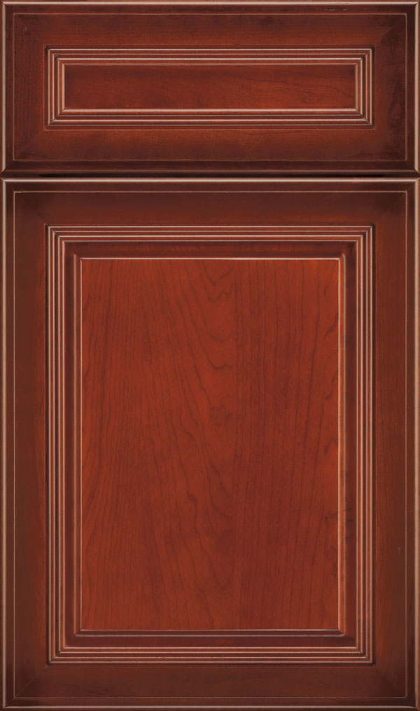 Cambridge 5-Piece Cherry Raised Panel Cabinet Door in Rousseau Luminaire