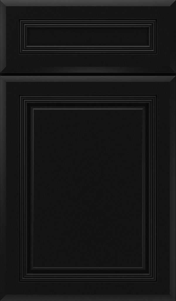 Cambridge 5-Piece Maple Raised Panel Cabinet Door in Jet