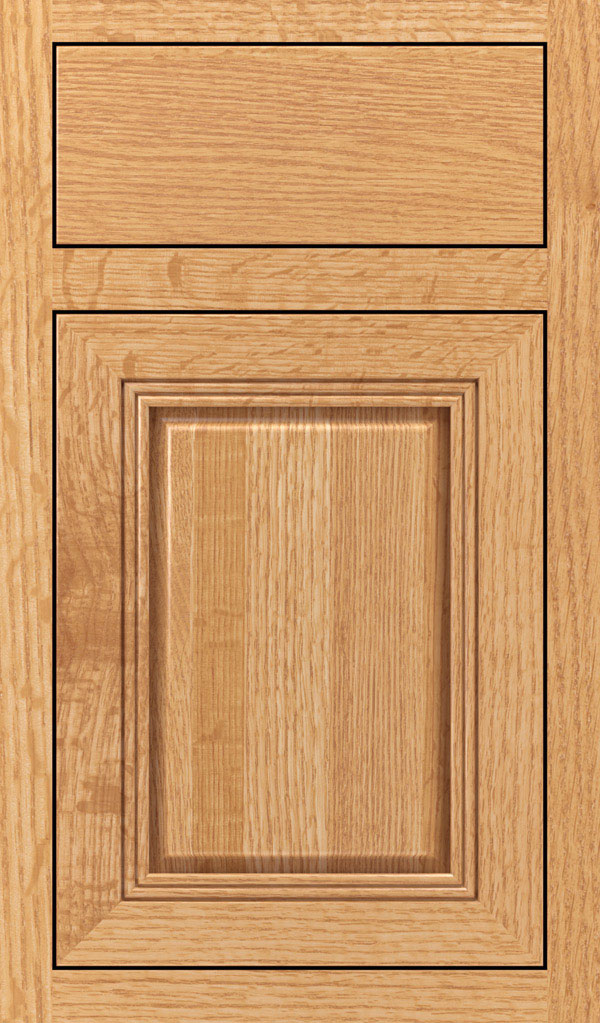 Cambridge Quartersawn Oak Inset Cabinet Door in Natural