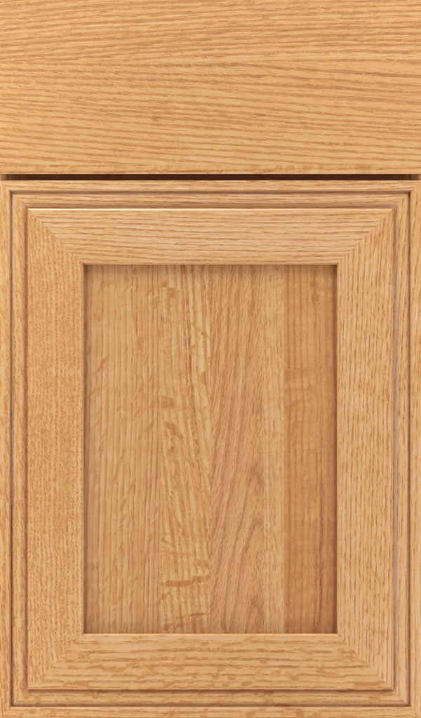 Daladier Quartersawn Oak Recessed Panel Cabinet Door in Natural
