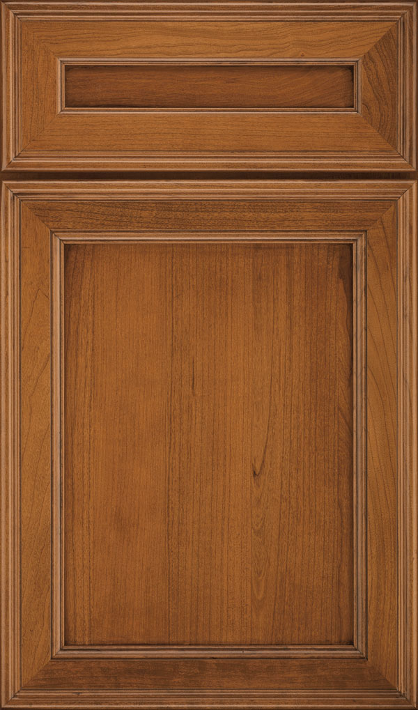 Girard 5-Piece Cherry Raised Panel Cabinet Door in Sienna Coffee