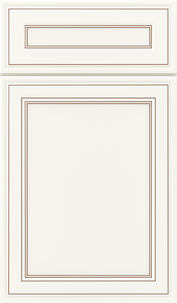 Girard 5-Piece Maple Raised Panel Cabinet Door in White Coffee
