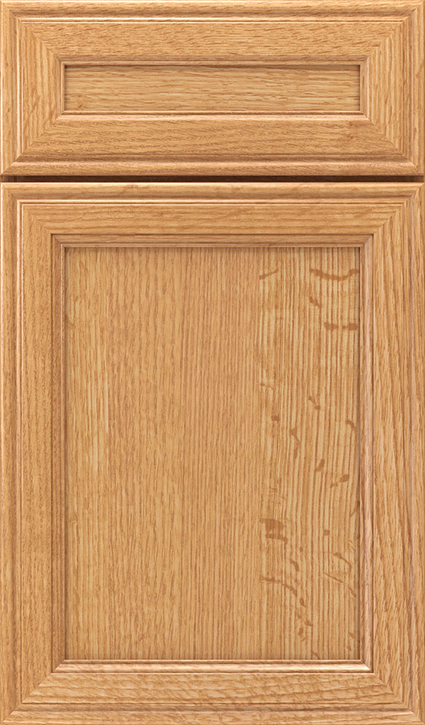 Girard 5-Piece Quartersawn Oak Raised Panel Cabinet Door in Natural