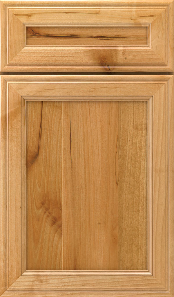 Girard 5-Piece Rustic Alder Raised Panel Cabinet Door in Natural
