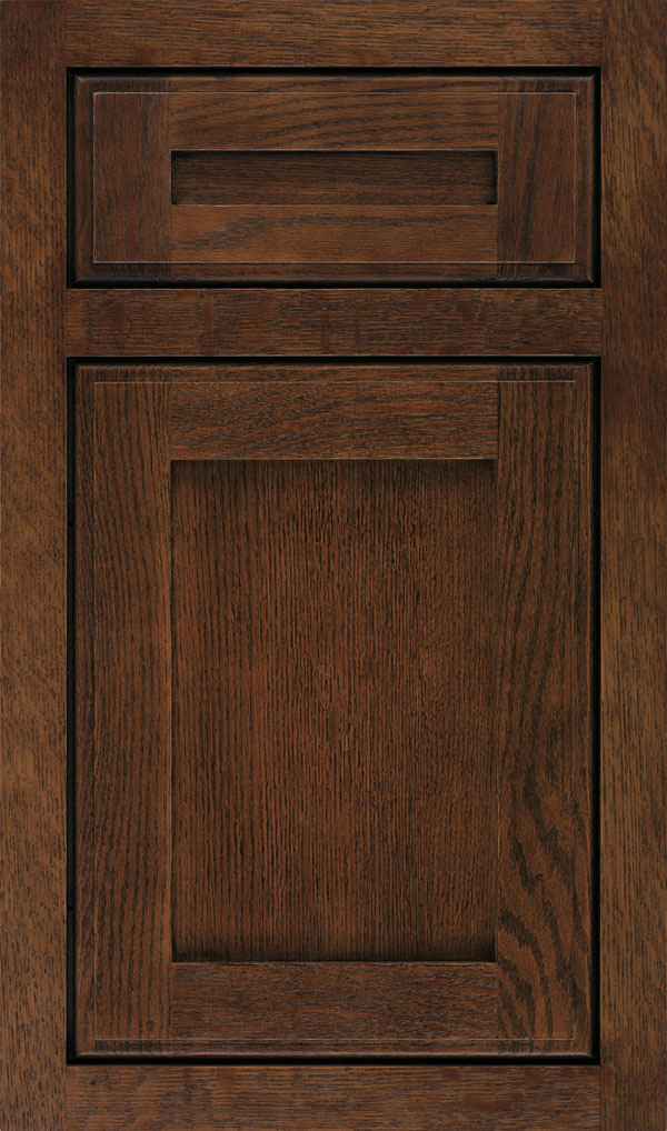 Harmony 5 Piece Quartersawn Oak Inset Cabinet Door in Sepia