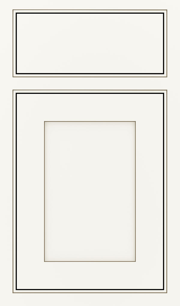 Harmony Maple Inset Cabinet Door in White Twilight