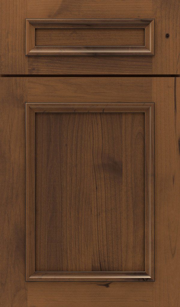Haskins 5-Piece Rustic Alder recessed panel cabinet door in Brandywine Espresso