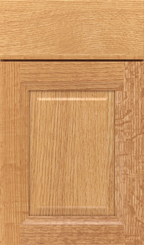 Hawthorne Quartersawn Oak Raised Panel Cabinet Door in Natural