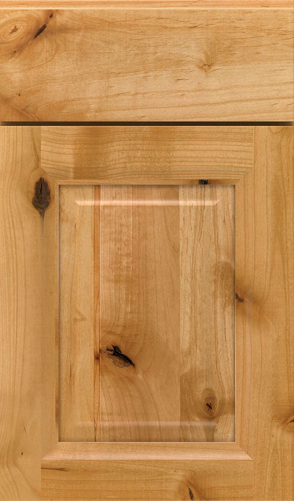 Hawthorne Rustic Alder Raised Panel Cabinet Door in Natural