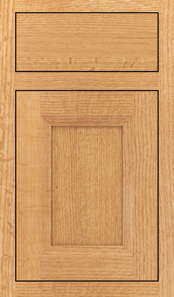 Huchenson Quartersawn Oak Inset Cabient Door in Natural