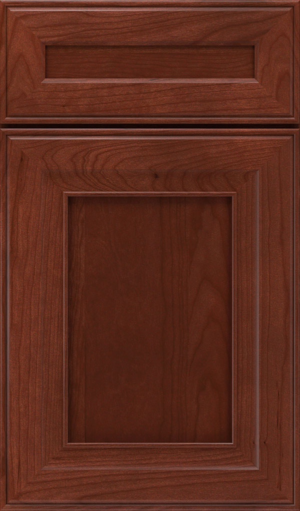 Leyden 5 Piece Cherry Flat Panel Cabinet Door in Arlington