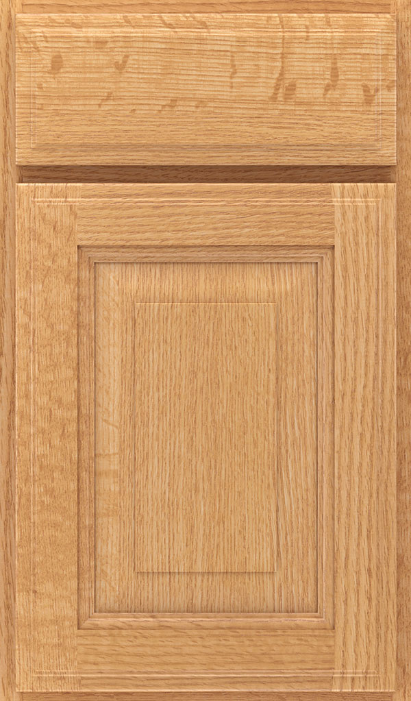Madison Quartersawn Oak Rasied Panel Cabinet Door in Natural