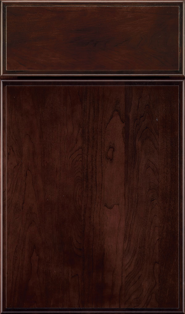 Marquis Chery Slab Cabinet Door in Teaberry