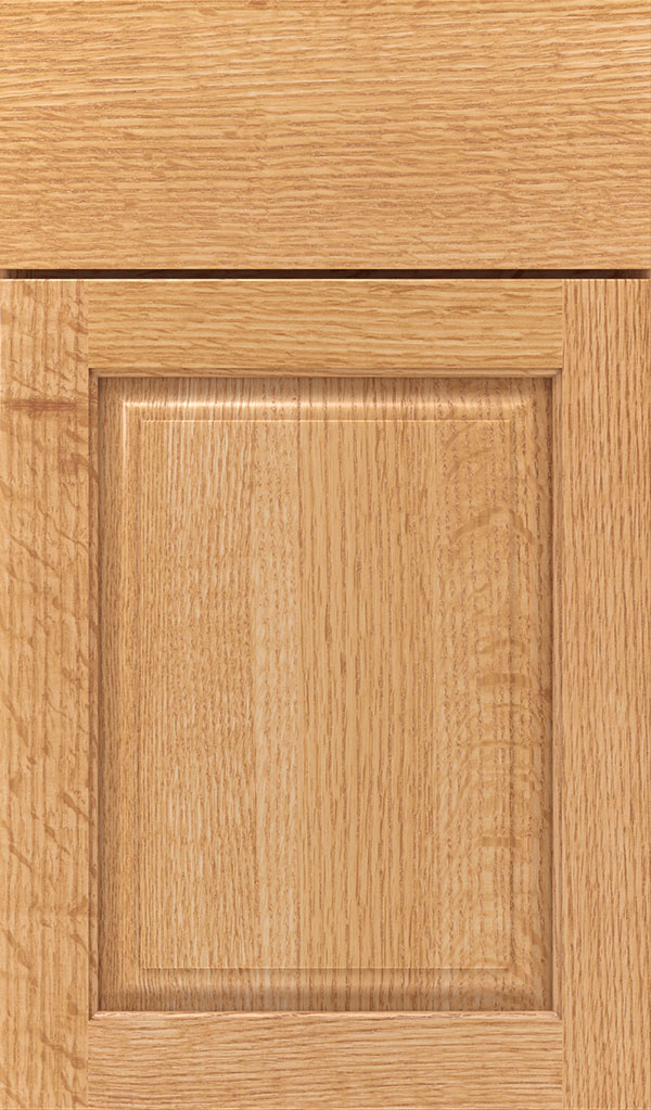 Plaza Quartersawn Oak raised panel cabinet door in Natural