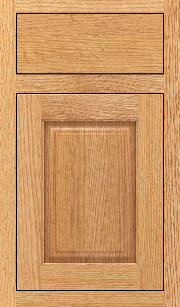 Plaza Quartersawn Oak Inset Cabinet Door in Natural