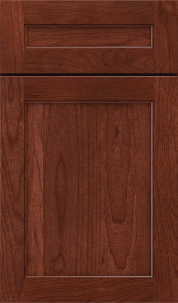 prescott_5pc_cherry_flat_panel_cabinet_door_arlington