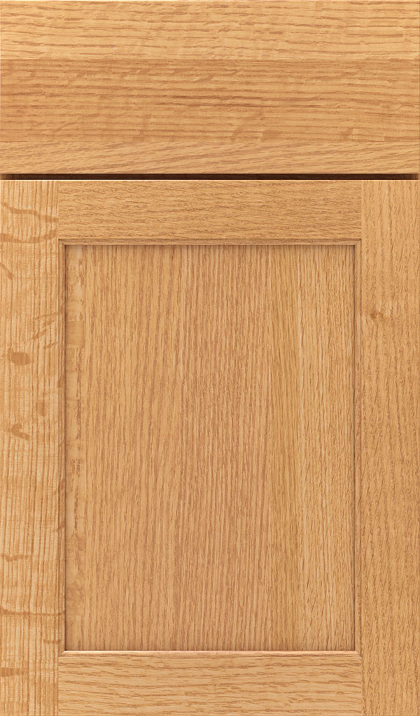 Prescott Quartersawn Oak Flat Panel Cabinet Door in Natural
