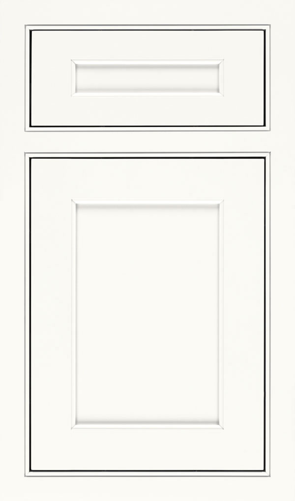 Prescott 5 Piece Maple Beaded Inset Cabinet Door in White