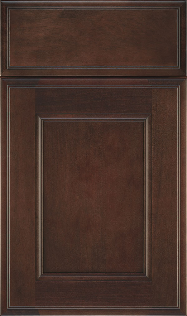 Roslyn Maple Shaker Style Cabinet Door in Malbec