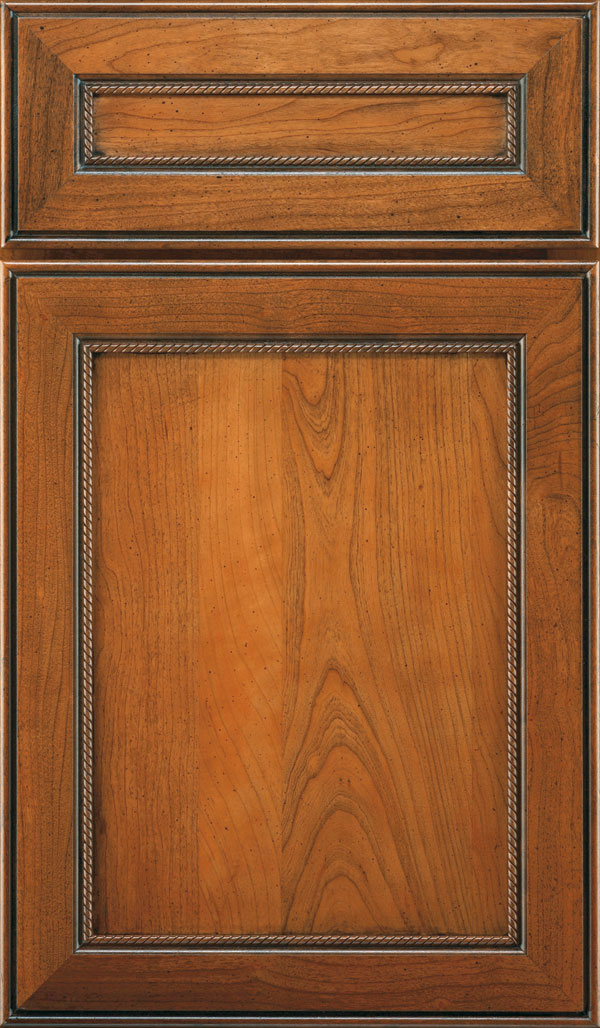 Savannah 5 Piece Cherry Flat Panel Cabinet Door in Bourbon Noir