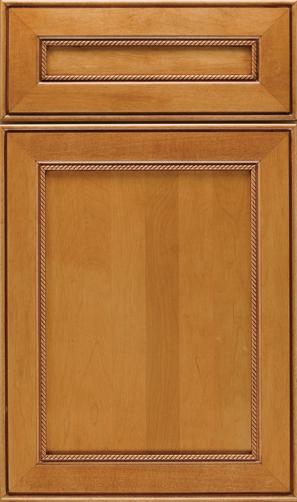 Savannah 5 Piece Maple Flat Panel Cabinet Door in Natural Bronze