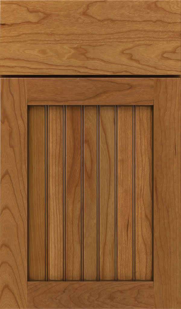 Simsbury Cherry Beadboard Cabinet Door in Coriander Coffee