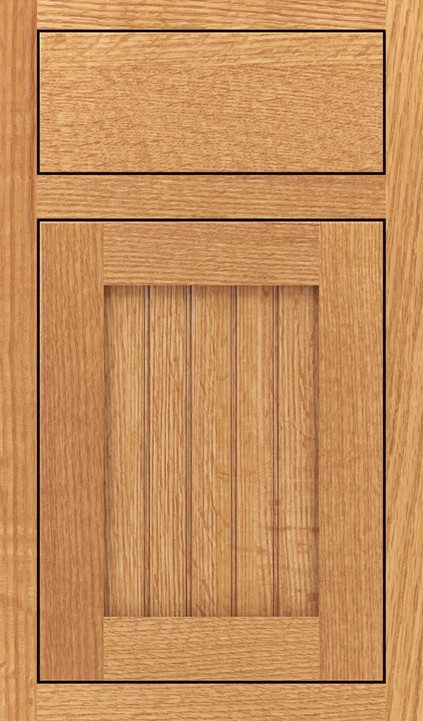 Simsbury Quartersawn Oak Inset Cabinet Door in Natural