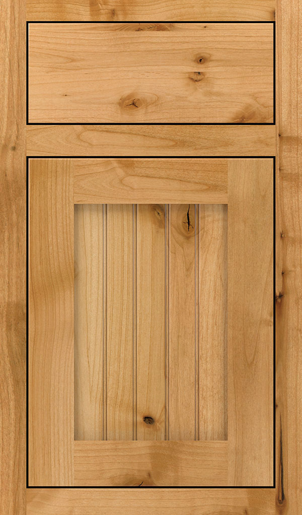 Simsbury Rustic Alder Inset Cabinet Door in Natural