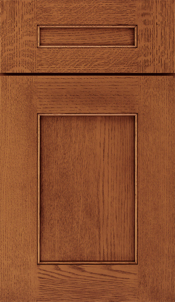Sloan 5 Piece Quartersawn Oak Recessed Panel Cabinet Door in Brandywine