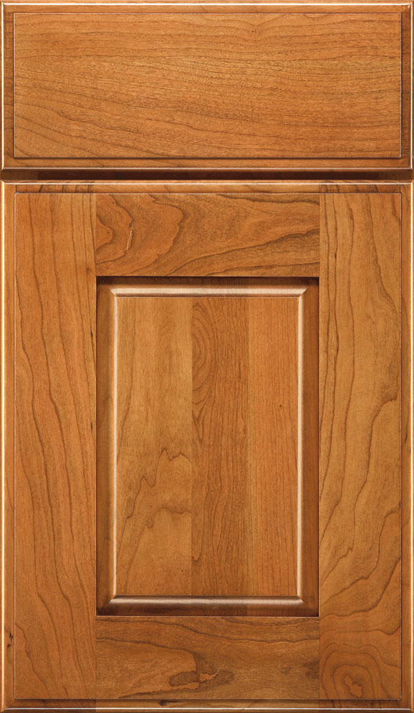 Toulan Cherry Raised Panel Cabinet Door in Coriander Coffee
