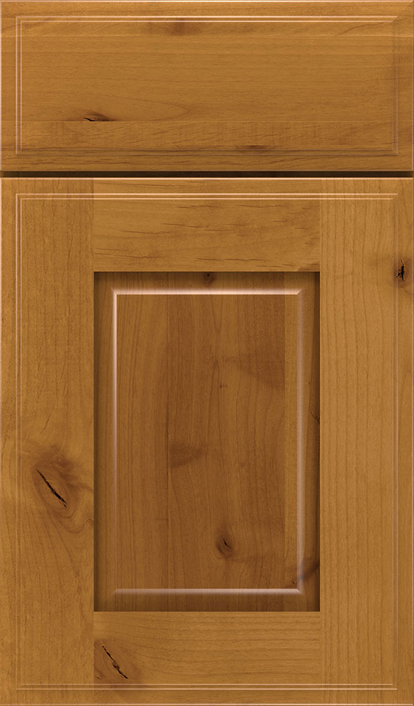 Toulan Rustic Alder Raised Panel Cabinet Door in Wheatfield