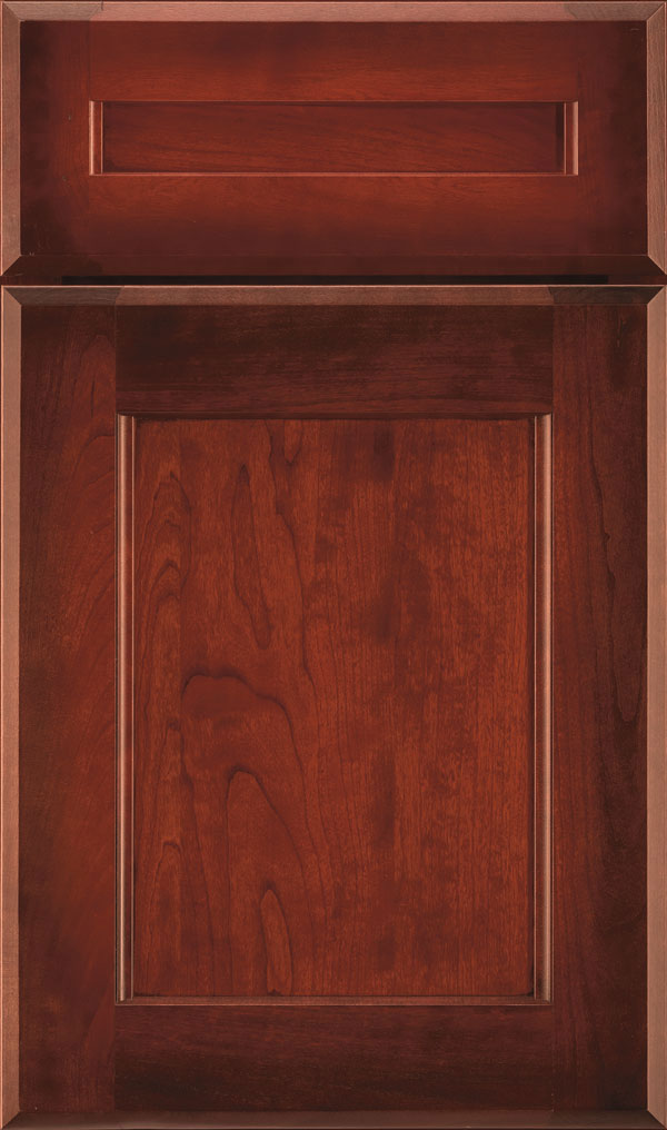 Treyburn 5 Piece Cherry Recessed Panel Cabinet Door in Rousseau Luminaire