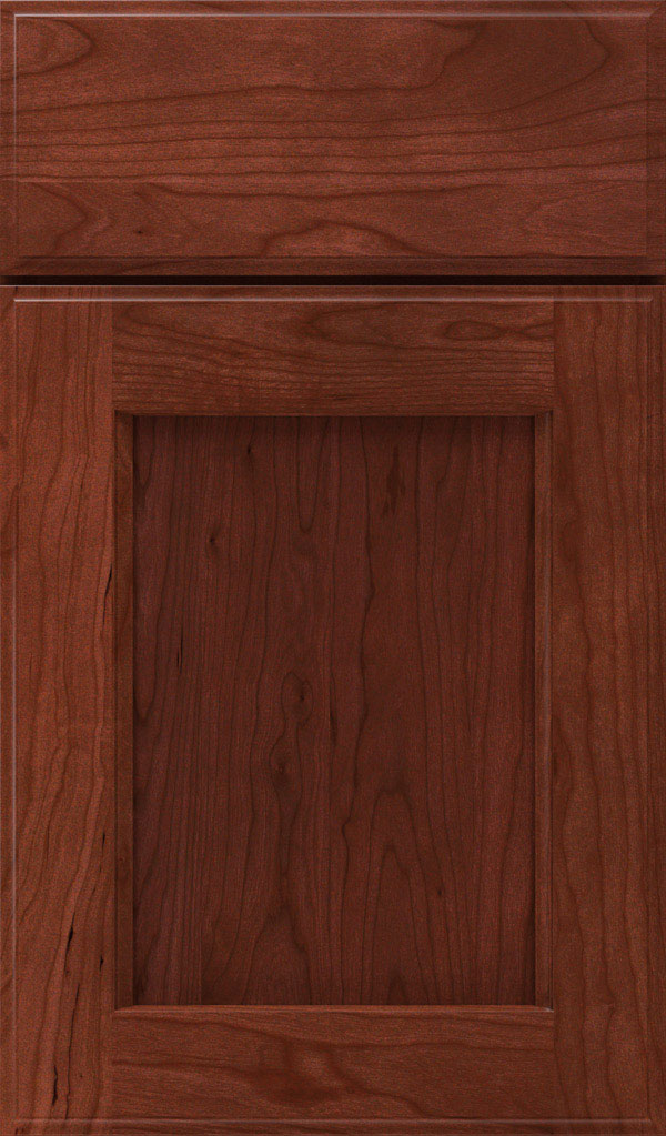 Treyburn Cherry Recessed Panel Cabinet Door in Arlington
