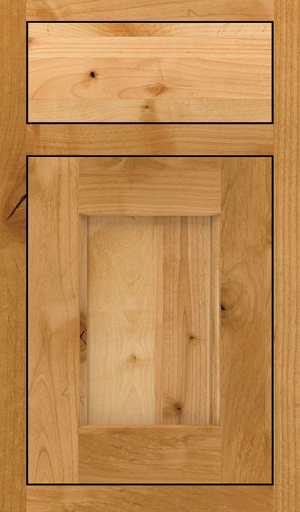 Treyburn Rustic Alder Inset Cabinet Door in Natural